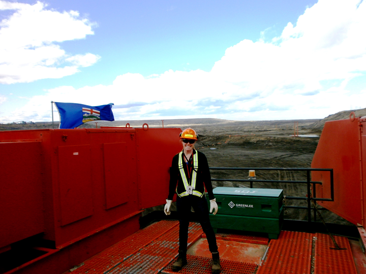 CO-OP student during her work term with Syncrude in Alberta