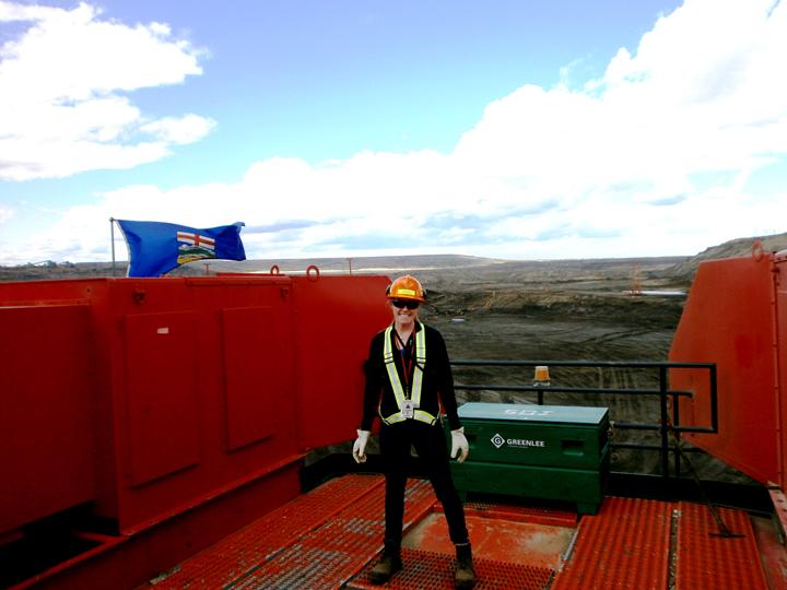 Étudiante coop lors de son stage avec Sycrude en Alberta