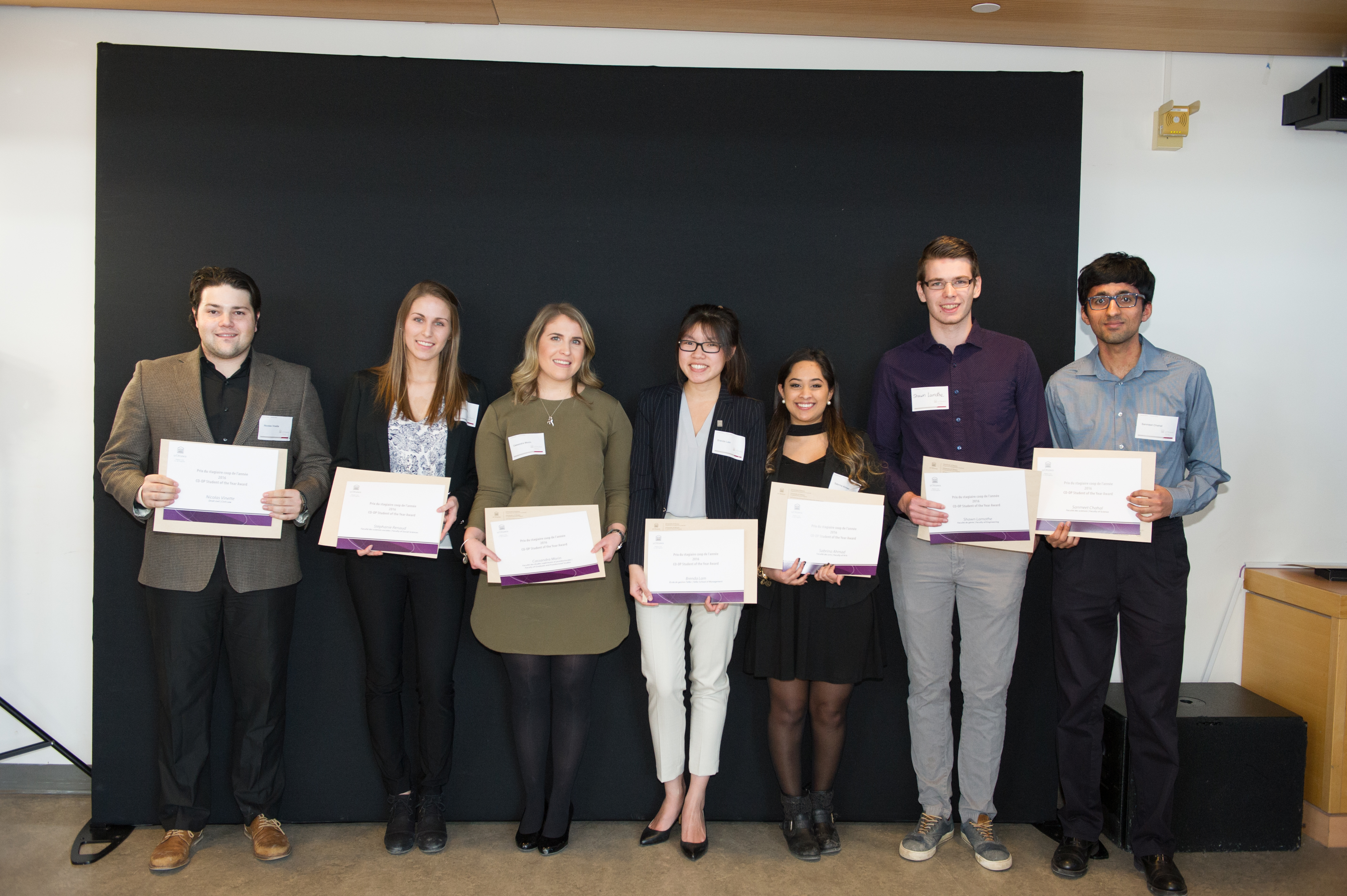 CO-OP Student of the Year Award Winners