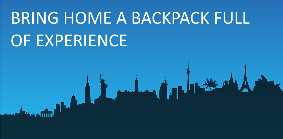 Bring home a backpack full of experience